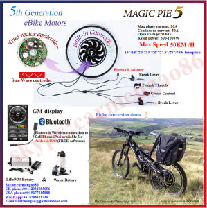 Bluetooth! 48V 1000W Golden Motor Electric Bicycle Hub Motor Wheel pictures & photos