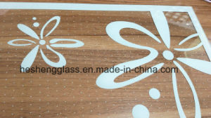 5mm White Flower Printing Tempered Glass for Decoration Glass