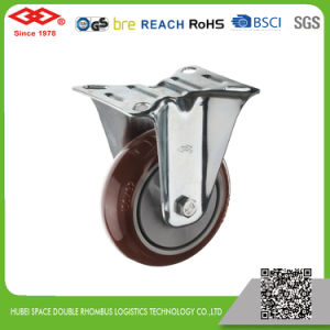 100mm Swivel Plate PU Wheel Industrial Caster Wheel (P103-36EC100X32) pictures & photos