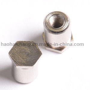 Precision CNC Machining Parts Auto Aluminum Threaded Hex Bolt pictures & photos