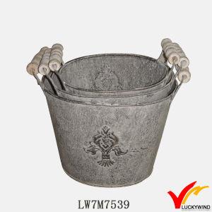 Sturbridge Vintage Decorative Metal Pots for Plants Indoor pictures & photos