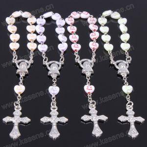 Fashion Smiling Face Plastic Heart Beads Christianity Bracelet
