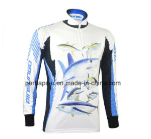 Quick-Drying Long Sleeve Fishing Jersey with Sublimation Printing pictures & photos