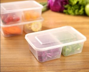 Two Compartment & Take Away Storage Plastic PP Material Ffood Container