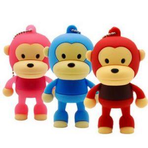 Monkey Design PVC Material USB Flash Drive pictures & photos