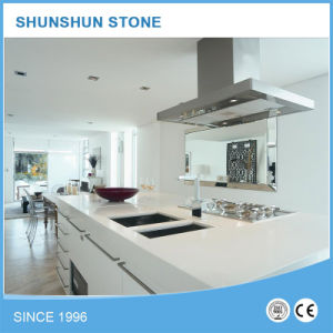 Modern Artificial White Quartz Stone Kitchen Countertop pictures & photos