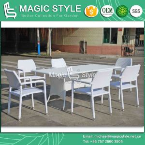 Stackable Wicker Chair Patio Rattan Dining Set Outdoor Dining Chair (Magic Style) pictures & photos