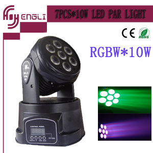 PRO LED Lighting 7PCS*10W 4 in 1 RGBW Mini Moving Head Stage Light pictures & photos