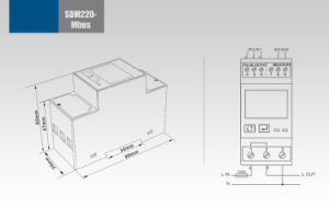 Single Phase DIN Rail Type Household Watt-Hour Power Meter Sdm220-Mbus pictures & photos