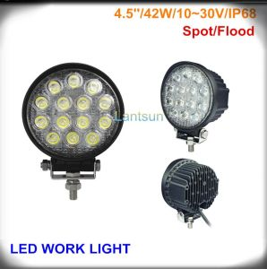 42W Round LED Work Light for Jeep SUV 4X4 Offroad pictures & photos