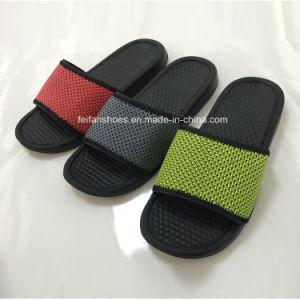 New Style Comfortable Men′s EVA Bath Slipper Beach Sandal (HK-15018) pictures & photos