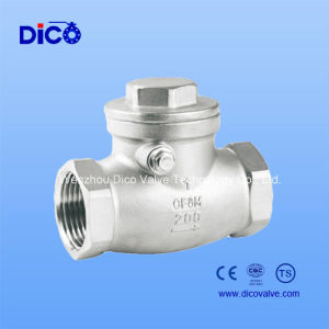 Stainless Steel Swing Check Valve with NPT Thread (H14W) pictures & photos