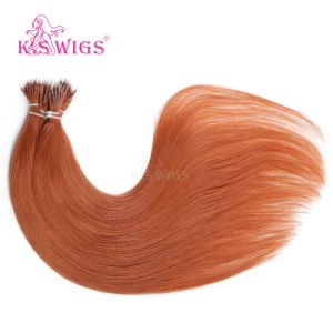 K. S Wigs Superior Quality Nano Ring Hair Keratin Hair Extension Brazilian Human Hair Extension 350# pictures & photos