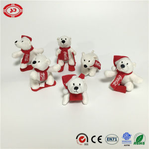 Cocacola Ski Skating with Sleigh White Tiny Polar Bear Toy pictures & photos