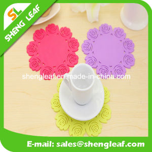 Custom Special Flower Silicone Rubber Coaster for Promotion Gifts pictures & photos