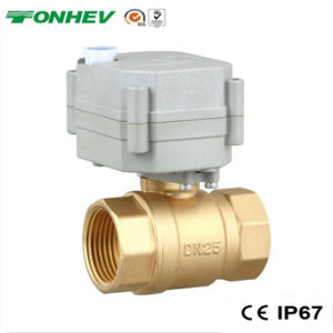"1"" 2-Way Electric Brass Motorized on-off Valve for Automatic Watering (T25-B2-B) pictures & photos"