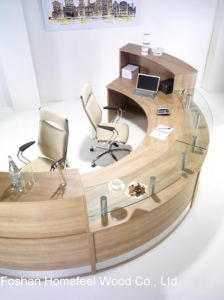 Creative Stylish Office Reception Counter Table (HF-R021) pictures & photos