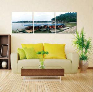 2016 Famous New Designs Village Scenery Oil Painting on Canvas pictures & photos