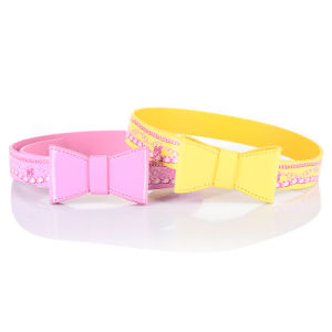 New Design Barbie Bow Print Kids Pants PU Belt (RS-050607) pictures & photos
