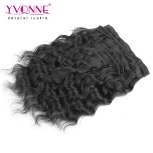 Loose Wave Brazilian Clip in Hair Extensions pictures & photos