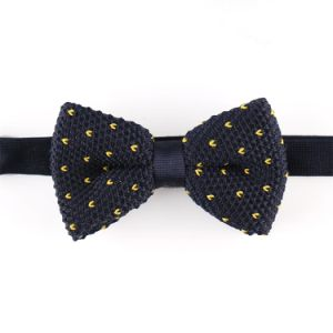 New Design Fashion Men′s Dotted Knitted Bowtie (YWZJ 28) pictures & photos
