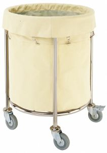 Stainless Steel Frame Round House Keeping Cart for Hotel (C-63) pictures & photos
