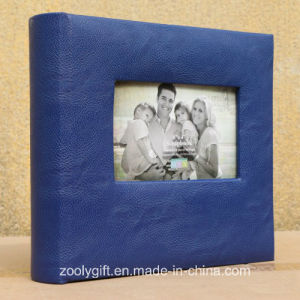 "4X6 / 5X 7 "" Blue Leather Photo Album with Window pictures & photos"