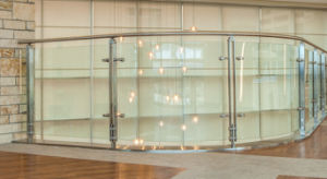 Outdoor Stainless Steel Glass Railings with Steel Post pictures & photos