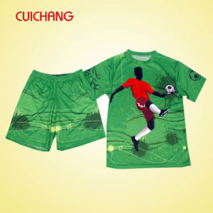 Custom Digital Sublimation Printing Soccer Jerseys Polyester Sublimation Soccer Uniform, Soccer Jersey pictures & photos