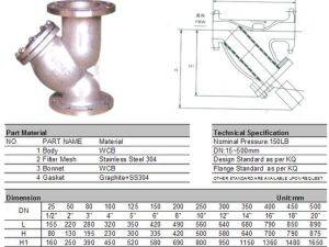 with Small Drain Carbon Steel Y Strainer pictures & photos