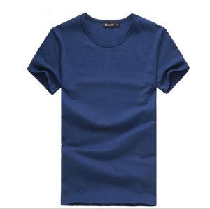 Good Quality No Label Men Cotton Blank T-Shirt pictures & photos