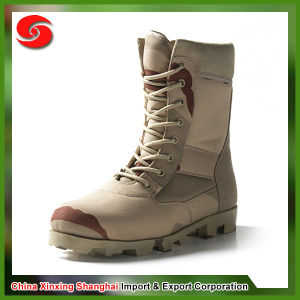 Anti-Slip Waterproof Anti-Splash Sueded Leather Military Tan Desert Boot pictures & photos