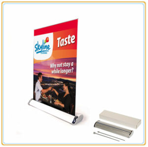 Exhibition Aluminum Mini Roll up Banner Stand pictures & photos