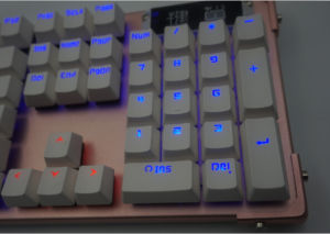 Ergonomics Style USB Wired Mechanical Keyboard with LED Backlit pictures & photos