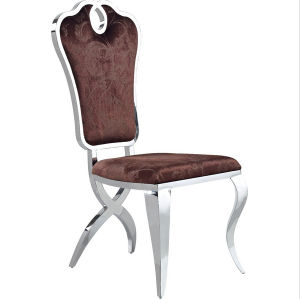 Elegant Furniture Modern Dining Room Leather Stainless Steel Dining Chair pictures & photos