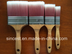 Synthetic Solid Tapered Filament Paint Brush with Wooden Handle pictures & photos