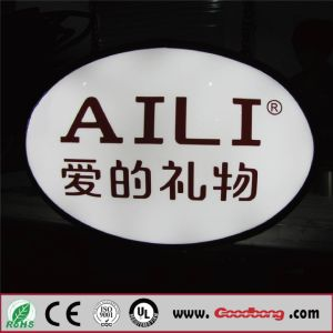 Hot Sales Round Vacuum Forming Acrylic Wall Mounted Lightbox pictures & photos