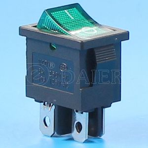 2 Pole 4pin Rocker Switch T125 5e4 with LEDs pictures & photos