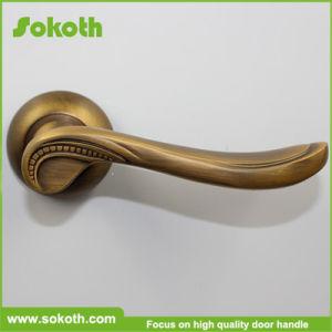 High Quality Iran Market Coffee Gold Aluminum Door Handle pictures & photos