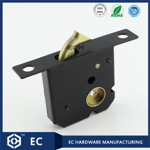 Black Steel Sliding Door Lock with Zinc Sliding Bolt (46YMS)