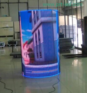 Customized P10 Full Color Cylinder LED Display with High Brightness (DIP346) pictures & photos