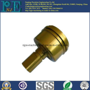 SGS Passed Custom CNC Turned Brass Knurled Part pictures & photos