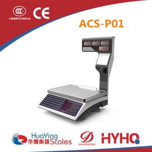 Electronic Price Computing Scales with Label Printing Printer (ACS-P01) pictures & photos