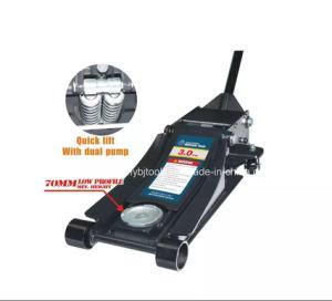 3t Low Profile Floor Jack with Double Pump Qfl0303 pictures & photos