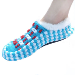 Custom Made Anti-Slip Knitted Indoor Floor Shoes Socks pictures & photos