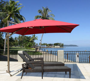 Top Quality Cheap Price Red Color Parasol 8 Steel Ribs Outdoor Garden Umbrella pictures & photos