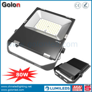 China Factory Price 120V 230V 277V Philips SMD Floodlight IP65 80W LED Flood Lighting pictures & photos