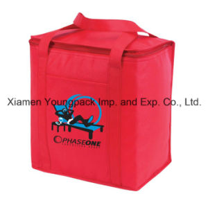 Promotional Red 24-Can Non-Woven Insulated Cooler Tote Bag pictures & photos