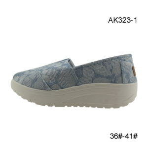 Canvas Shoes Injection Footwear Women Fashion Shoe New Product (AK323-1) pictures & photos