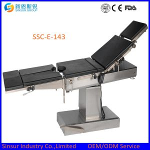 Medical Equipment Radiolucent Hospital Electric Operating Surgical Table Price pictures & photos